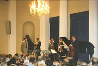Performance of the composer's 'Piano Quintet Op. 27' given by the Chilingirian String Quartet and pianist Nigel Clayton